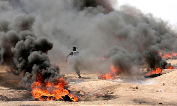 גבול עזה היום, צילום: איי אף פי