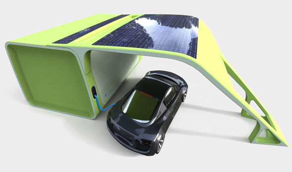 Chakratec's concept for an electric vehicle charging station. Photo: PR