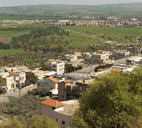 היישוב שיבלי למרגלות התבור, צילום: אלעד גרשגורן