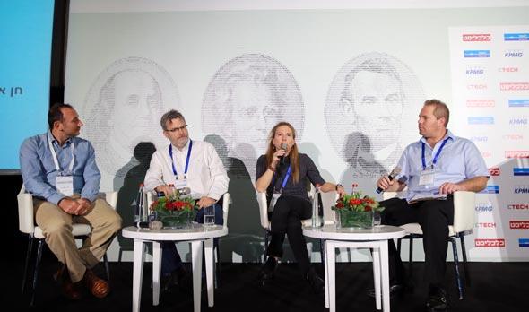 פאנל ניהול ההון. מימין: עמיר קורץ, חן אלטושלר, אורי אלדובי והלל רז