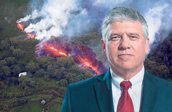 """יצחק אנג'ל, מנכ""""ל אורמת, על רקע התפרצות הר הגעש בהוואי ב-2018"""