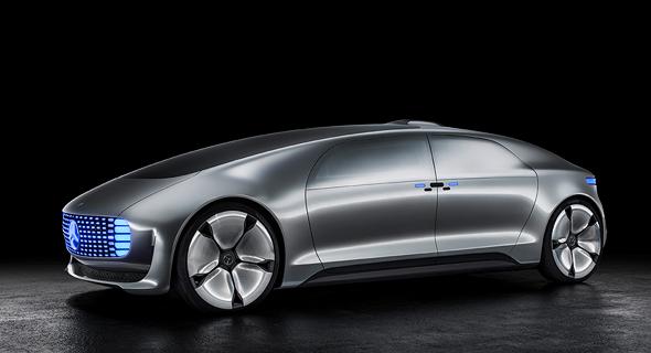 המכונית העתידנית של מרצדס. למרכז בארץ יהיה חלק מכריע בפיתוחה
