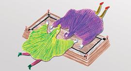 מוסף שבועי 17.5.18 איור בתנועה מונולוגים מהפוסי, איור: שמרית אלקנתי