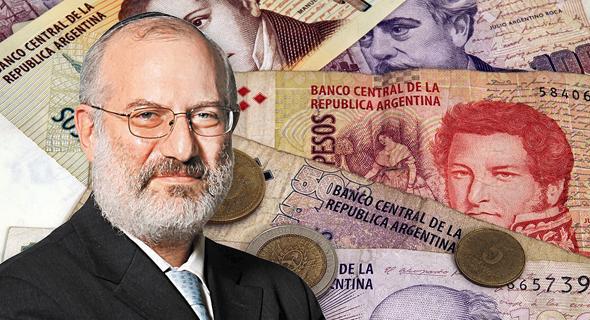 אדוארדו אלשטיין, על רקע הפזו הארגנטיני