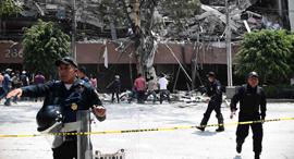 הריסות רעידת אדמה בעוצמה 7.1 הורגשה בדרום מקסיקו ובבירה מקסיקו סיטי, צילום: איי אף פי