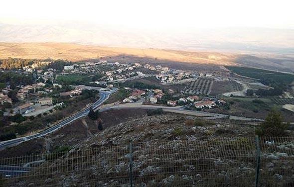 Northern Israeli town Metula. Photo: David Hacohen