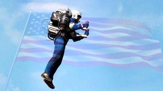 הקברניט תרמיל סילון המראה Jet pack, צילום: futurism