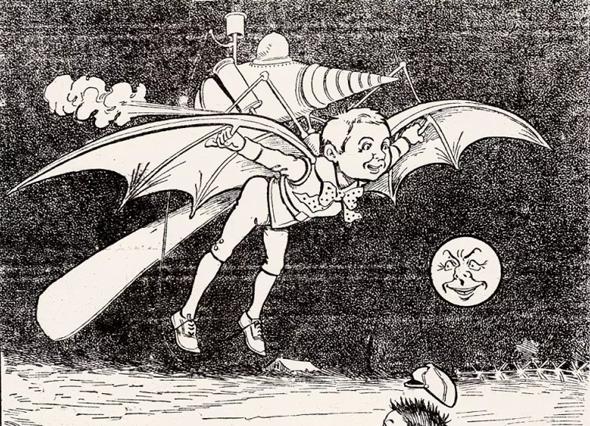 איור מהמאה ה-19, שמציג כלי טיס לביש