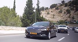 רכב אוטונומי של מובילאיי ו פורד בניסוי ב ירושלים, צילום מסך: מובילאיי