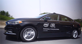 Mobileye's autonomous car. Photo: Mobileye, screenshot