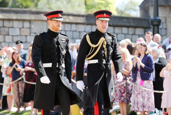 הנסיך הארי ואחיו וויליאם מגיעים לטקס, צילום: רויטרס