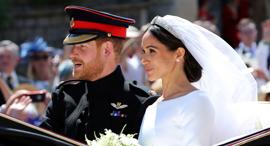 מייגן מרקל והנסיך הארי לאחר חתונתם, צילום: איי פי