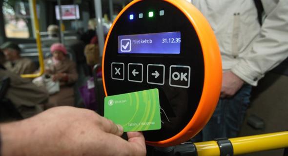 כרטיס לנסיעה חינם בתחבורה ציבורית באסטוניה