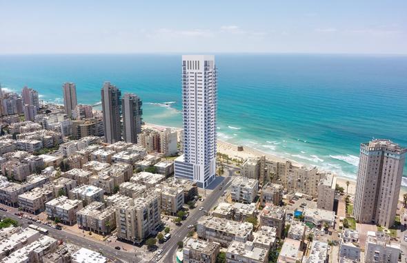 מגדל מגורים ומלון במקום שיכון: היתר בנייה ראשון לפרויקט פינוי בינוי בבת ים