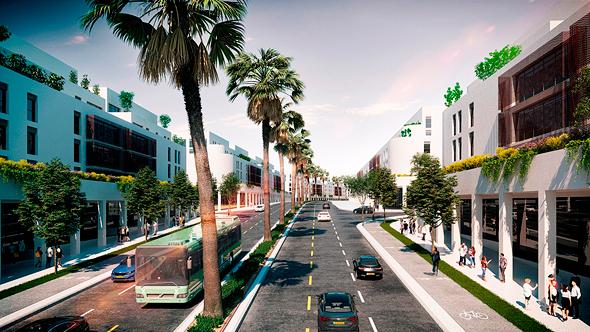 הדמיית העיר הערבית החדשה