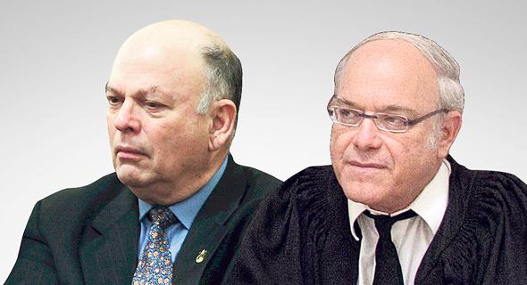 """מימין: שופט העליון ניל הנדל ועו""""ד יחזקאל ביניש. הקרבה עשתה את שלה, צילום: אוהד צויגנברג, אלכס קולומויסקי"""
