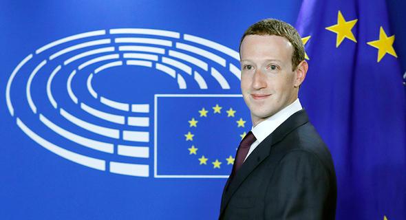 מארק צוקרברג בעדות בפרלמנט האירופי