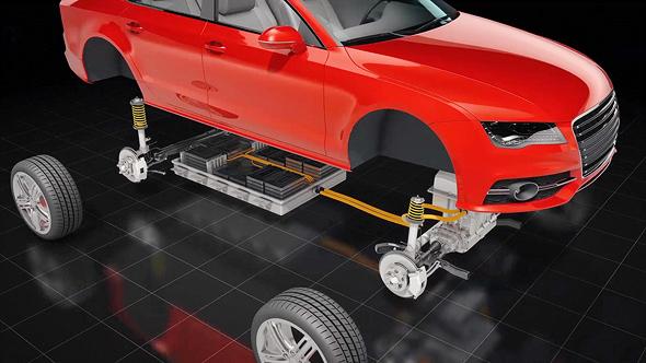 הדמייה של חיבור סוללה של סטורדוט לרכב חשמלי