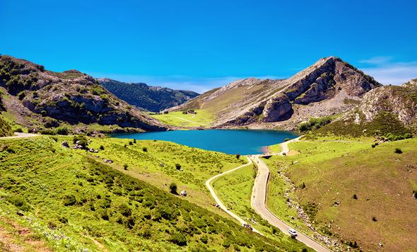 האגמים בשמורת הטבע קובאדונגה בקיץ