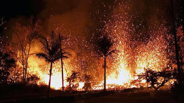 התפרצות הר הגעש קילוואה בהוואי, צילום: AP
