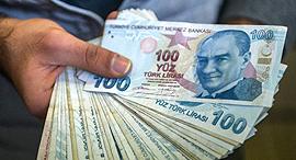 לירה טורקית טורקיה כסף מזומן, צילום: איי אף פי