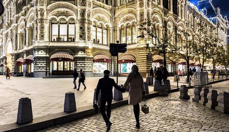 מוסקבה, רוסיה. נוכחות הרשתות ברחובות היא עדין קריטים להצלחתן, צילום: גטי אימג