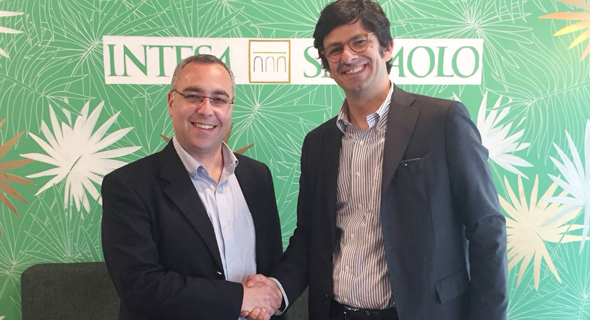 OurCrowd SVP Global Josh Wolff (left) and Intesa Sanpaolo Innovation Centre's Fabio Spagnuolo. Photo: PR