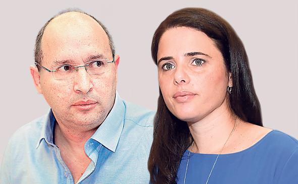 מימין איילת שקד ו אבי ניסנקורן, צילומים: יאיר שגיא, אוראל כהן