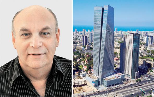 ישראל דוד (משמאל) ומגדל עזריאלי שרונה. הגבוה בישראל