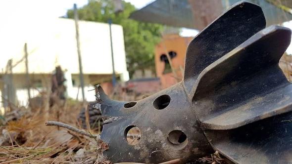 פצצת מרגמה שנחתה ליד גן ילדים, הבוקר