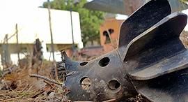 """פצמ""""ר בשטח עוטף עזה, צילום: רועי עידן"""