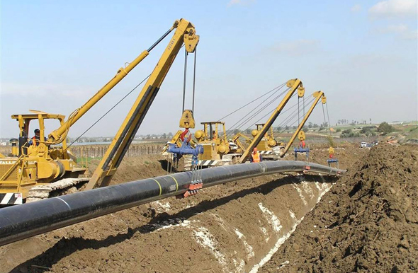 Set up of an INGL gas pipeline. Photo: PR