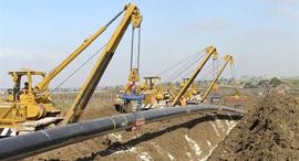 הנחת צינור גז טבעי ב מרכז הארץ של חברת נתגז