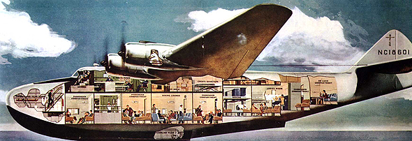 גדול ומפואר: מטוס הקליפר מבפנים