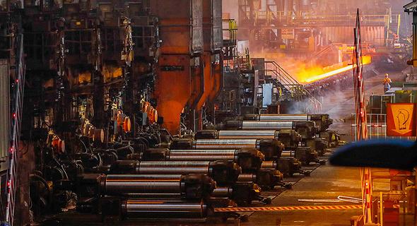 מפעל פלדה בבלגיה