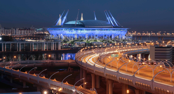האצטדיון בסנט פטרסבורג. תדמית עולה הרבה כסף, צילום: רויטרס