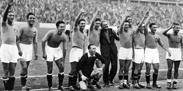 נבחרת איטליה באולימפיאדת ברלין 1936, צילום: גטי אימג