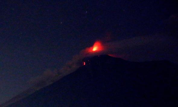 התפרצות הר הגעש, צילום: אי פי איי