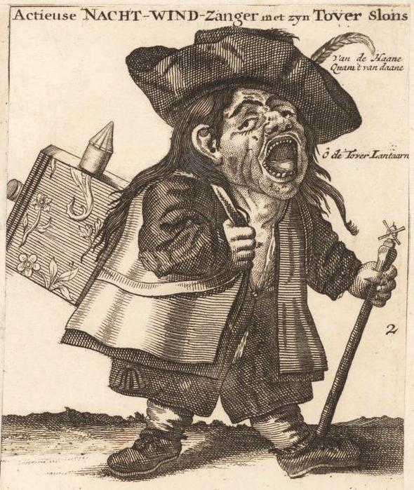 """""""סוחר המניות"""", קריקטורה מהמאה ה-18 שמתארת את בועת חברת הים הדרומי"""