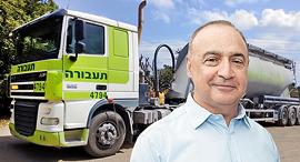 לן בלווטניק על רקע משאית חברת תעבורה, צילום: ויקיפדיה