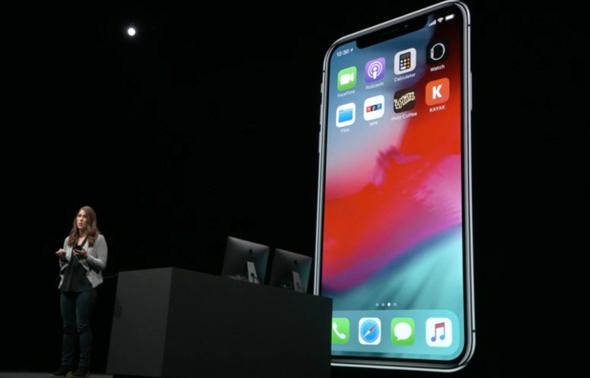 iOS 12 מודגמת על הבמה
