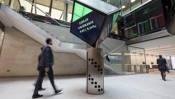 London Stock Exchange. Photo: Bloomberg