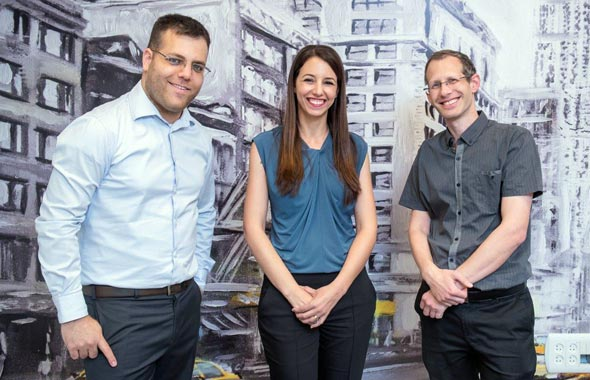 Hailo co-founders Orr Danon (left), Hadar Zeitlin and Avi Baum. Photo: Eran Tayree