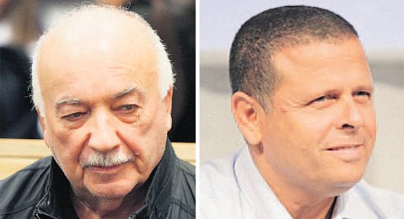 """מימין: יו""""ר הוועדה איתן כבל ואליעזר פישמן"""