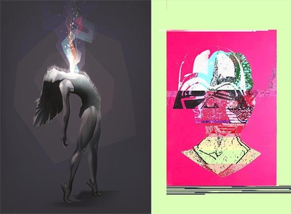 יצירות מתוך התערוכה Rena'ssance במלון אחוזת רנה תל אביב