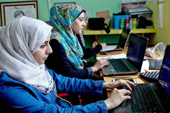 Tech workers in Gaza. Photo: Bloomberg