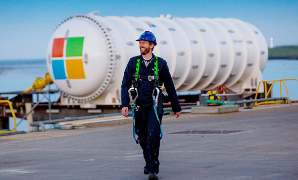 מודול חוות שרתים תת ימית, טכנולוגיה שפיתחה מיקרוסופט לחיסכון באנרגיה לקירור התשתיות, צילום: Business Insider