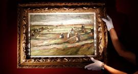 ציור וינסנט ואן גוך מכירה פומבית, צילום: רויטרס