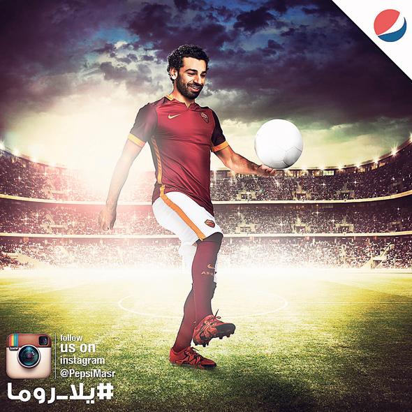 קמפיין של סלאח עם פפסי. הכדורגלן האפריקאי הכי מוכר בעולם, צילום: עוז מועלם
