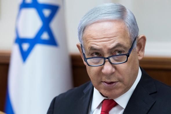 ראש ממשלת ישראל בנימין נתניהו ישיבת ממשלה יוני 2018 , צילום: רויטרס